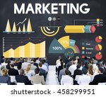 marketing percentage business... | Shutterstock . vector #458299951