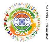 indian independence day festive ... | Shutterstock .eps vector #458311447