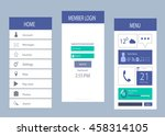 smartphone interface flat design