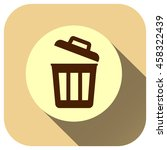 trash can icon vector logo for...