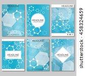 science vector background.... | Shutterstock .eps vector #458324659