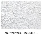 photo shot of texture of crushed paper - stock photo
