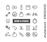 set of sport and fitness... | Shutterstock .eps vector #458332435