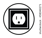 electric outlet icon. thin... | Shutterstock .eps vector #458340271