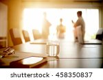 table meeting and documents... | Shutterstock . vector #458350837