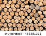 Pile Wood Timber Construction...