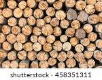 Pile Wood Timber Construction...