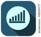 statistics vector icon  graph... | Shutterstock .eps vector #458359777
