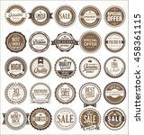 retro vintage badges and labels ... | Shutterstock .eps vector #458361115