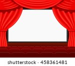 auditorium of the the cinema... | Shutterstock .eps vector #458361481