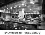 a modern kitchen in a hotel or...   Shutterstock . vector #458368579