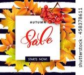 autumn foliage vector sale...   Shutterstock .eps vector #458378611