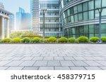 empty brick floor with modern... | Shutterstock . vector #458379715