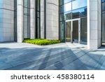 empty brick floor with modern... | Shutterstock . vector #458380114