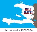 help haiti   vector illustration | Shutterstock .eps vector #45838384