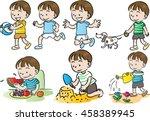 boys action | Shutterstock .eps vector #458389945