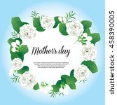 happy mother's day card thai... | Shutterstock .eps vector #458390005