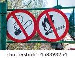 flammable material warning... | Shutterstock . vector #458393254