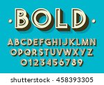 vector of retro font and... | Shutterstock .eps vector #458393305