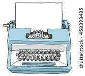 Blue Typewriter Vintage Toy...