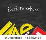 back to school concept  school... | Shutterstock . vector #458402419