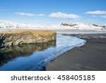 promontory of dyrholaey and the ...   Shutterstock . vector #458405185