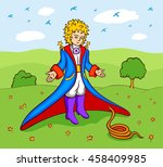 little prince and the snake | Shutterstock .eps vector #458409985