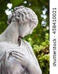 Gray Plaster Statue The Garden...