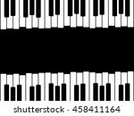 piano keys with copy space | Shutterstock .eps vector #458411164