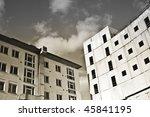 Unfinished Concrete Building - stock photo