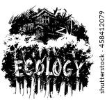 ecology and housing. nature and ... | Shutterstock .eps vector #458412079