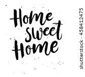 hand lettering typography...   Shutterstock .eps vector #458412475