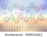 modern rainbow timeline with... | Shutterstock .eps vector #458416261