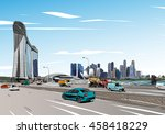 singapore. marina bay sands.... | Shutterstock .eps vector #458418229