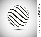 abstract logo vector element.... | Shutterstock .eps vector #458419114