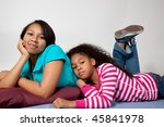 sisters playing together on the ... | Shutterstock . vector #45841978