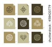 vector flat icons set  ... | Shutterstock .eps vector #458420779