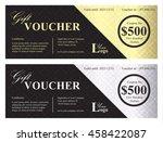 exclusive gift voucher with... | Shutterstock .eps vector #458422087