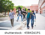 group of young multiethnic... | Shutterstock . vector #458426191