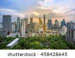 buildings landmark of sathorn... | Shutterstock . vector #458428645