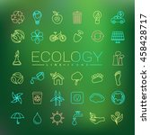 ecology line icons | Shutterstock .eps vector #458428717