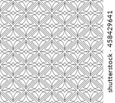 vector seamless gray and white... | Shutterstock .eps vector #458429641