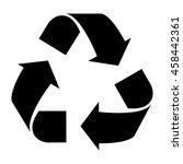 black recycling symbol vector   Shutterstock .eps vector #458442361