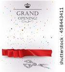 grand opening card with red... | Shutterstock .eps vector #458443411