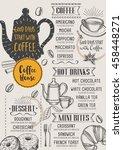 coffee restaurant brochure... | Shutterstock .eps vector #458448271