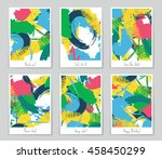 abstract vector layout... | Shutterstock .eps vector #458450299