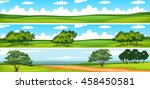 scene with trees in the field... | Shutterstock .eps vector #458450581