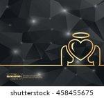 abstract creative concept... | Shutterstock .eps vector #458455675