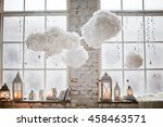 Winter Decor On Windowsill Wit...