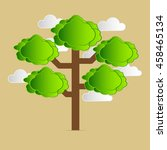 tree vecter for design... | Shutterstock .eps vector #458465134
